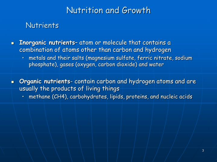 Nutrition and growth1