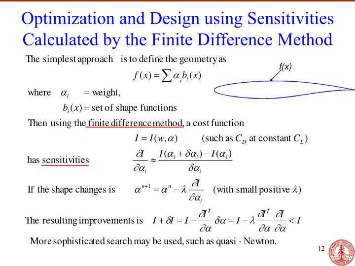 Optimization and Design using Sensitivities Calculated by the Finite Difference Method