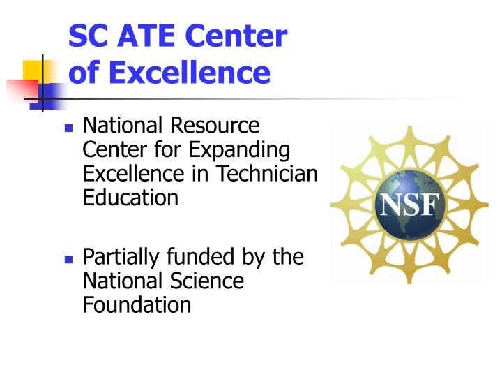 sc ate center of excellence n.