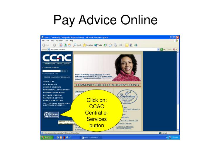 pay advice online n.