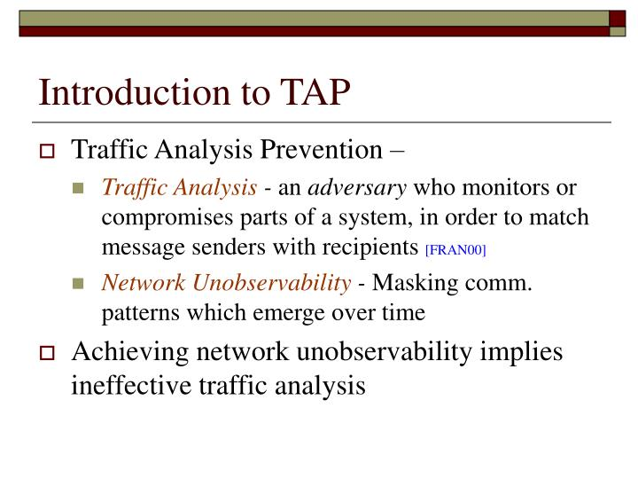 Introduction to tap