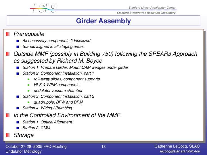 Girder Assembly