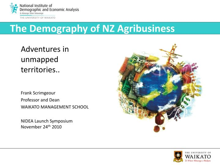 The demography of nz agribusiness