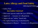 latex allergy and food safety2