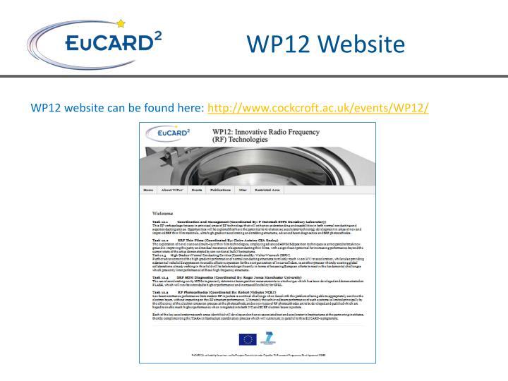 WP12 Website