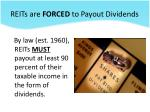 reits are forced to payout dividends