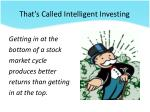 that s called intelligent investing