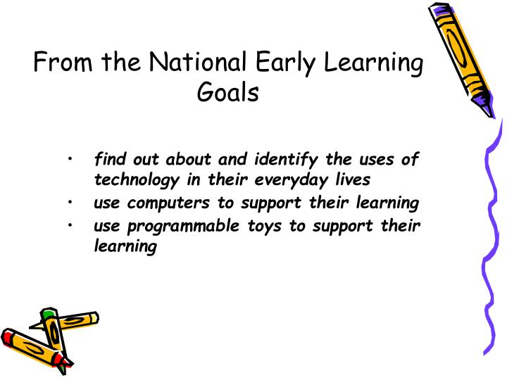 From the National Early Learning Goals