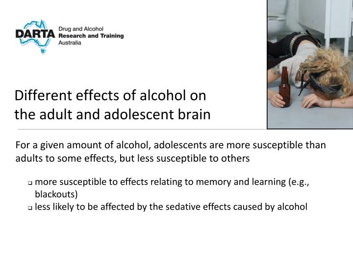 effects of alcohol on the adolescent