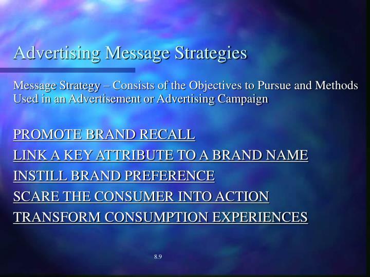 Advertising Message Strategies