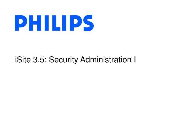 isite 3 5 security administration i n.