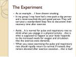 the experiment1