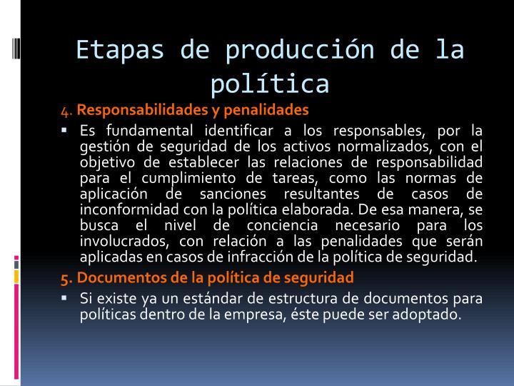 Etapas de producción de la política