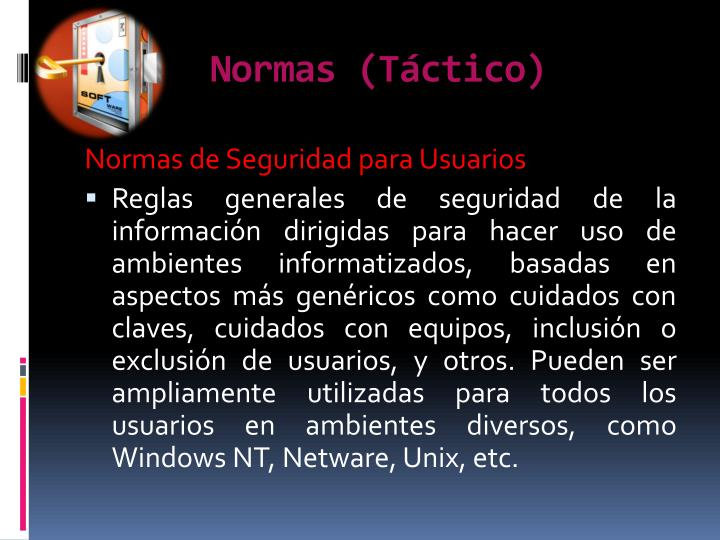 Normas (Táctico)