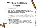 writing a research report10