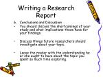 writing a research report30