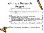 writing a research report32
