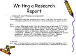 writing a research report33