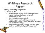 writing a research report38
