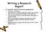 writing a research report5