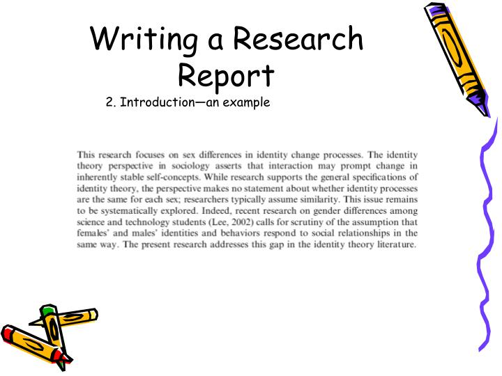introduction of report writing sample Writing skills practice: a report – exercises look at the exam question and report and do the exercises to improve your writing skills preparation.