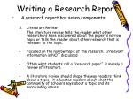 writing a research report9
