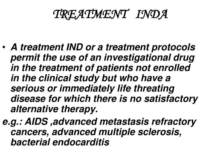 TREATMENT   INDA