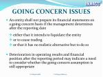 going concern issues