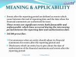 meaning applicability
