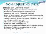 non adjusting event1