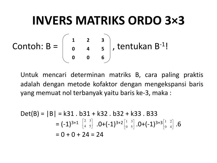 INVERS MATRIKS ORDO