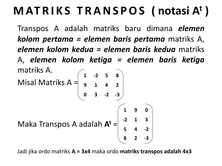 MATRIKS TRANSPOS