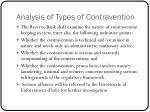 analysis of types of contravention