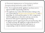is personal appearance is compulsory before compounding authority under fema1