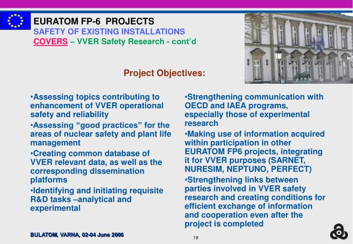 Assessing topics contributing to enhancement of VVER operational safety and reliability