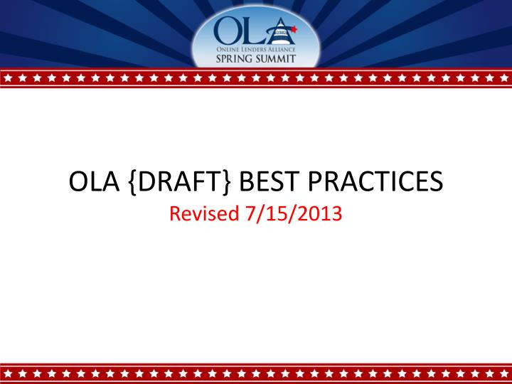 Ola draft best practices revised 7 15 2013