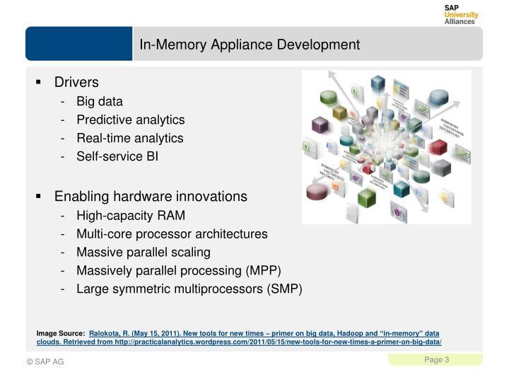 In memory appliance development