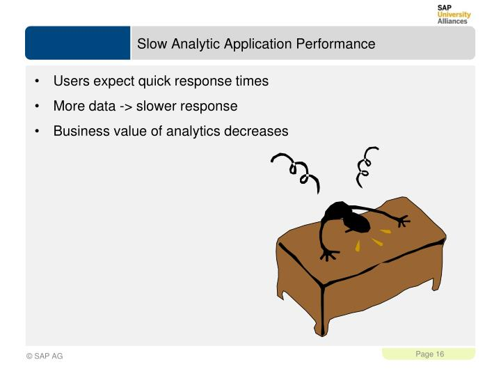 Slow Analytic Application Performance