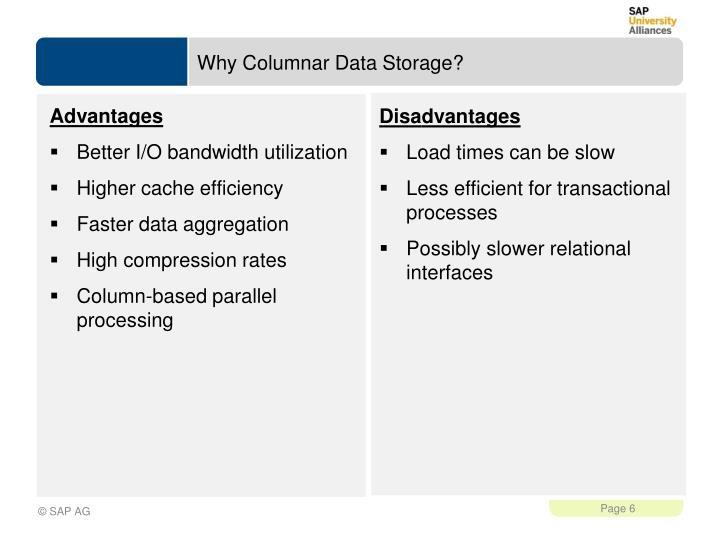Why Columnar Data Storage?