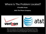 where is the problem located