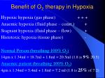 benefit of o 2 therapy in hypoxia2