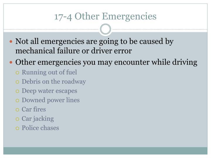 17-4 Other Emergencies