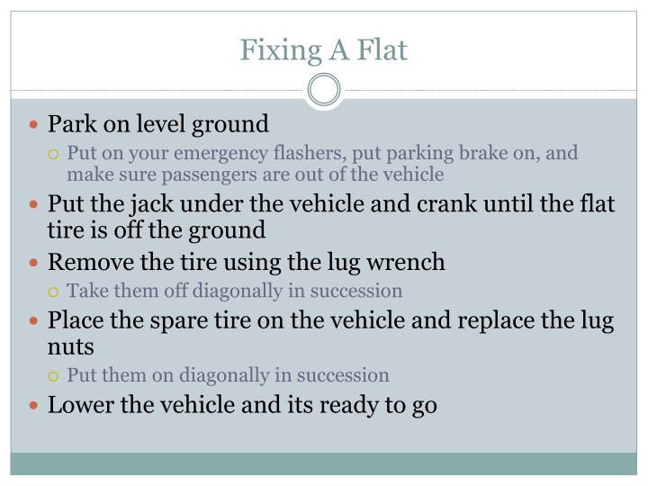Fixing A Flat