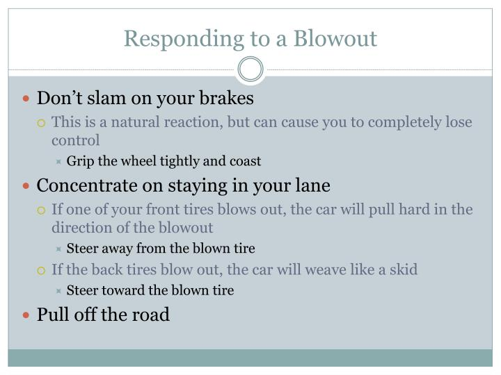 Responding to a blowout