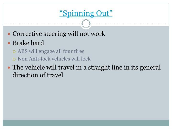 """""""Spinning Out"""""""