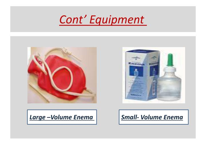 Cont' Equipment