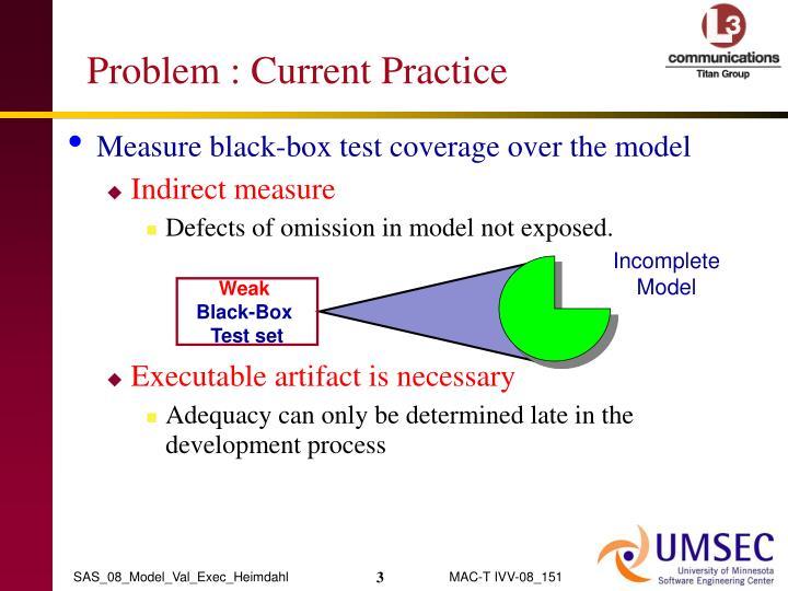 Problem current practice
