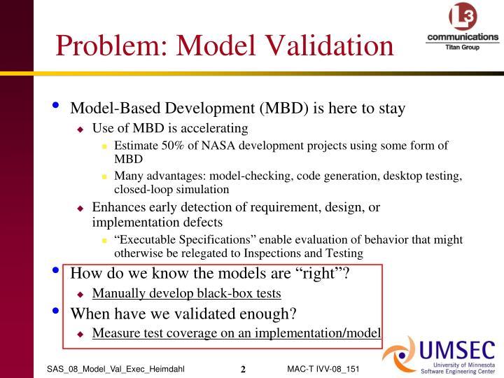 Problem model validation