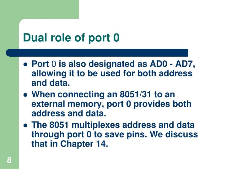 Dual role of port 0