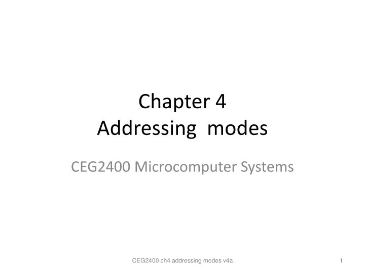 chapter 4 addressing modes n.